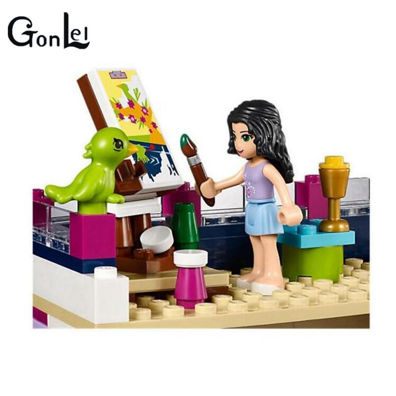 - (GonLeI) 10541 Compatible with Friends Emma's House 41095 Building Blocks Emma Mia Figure Educational Toys For Children Girl -   jetcube