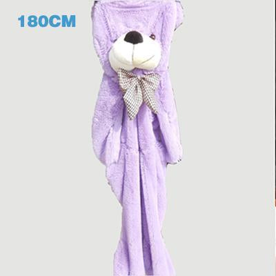- 180cm Teddy Bear Skins Plush Soft Toy Dolls Giant empty Bear animal skins shell for kids Cute Peluche Animal Stuffed Toys Gifts - purple  jetcube