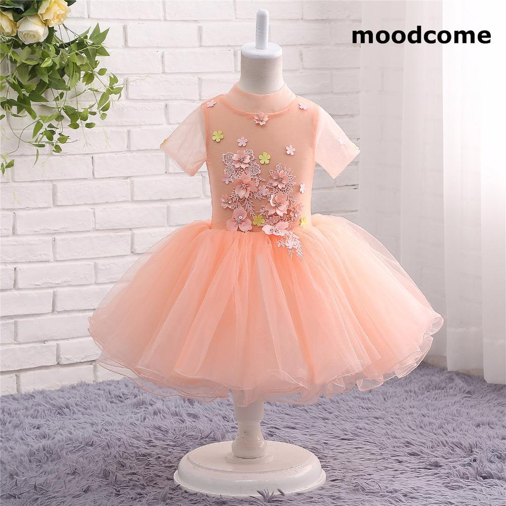 2018 new cheap flower girl dresses knee length high neck tulle 2018 new cheap flower girl dresses knee length high neck tulle applique ball gown short sleeve izmirmasajfo