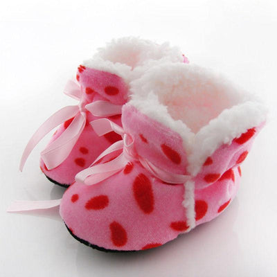 - 0-6 Months Newborn Baby Toddlers Girls Winter Boots Soft Shoes Winter Keep Warm 2016 New -   jetcube