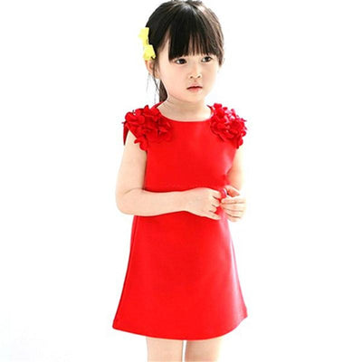 - 2-7Y Baby Girls Dress Sleeveless Sundress Dress Party Princess Dress Floral Dress -   jetcube