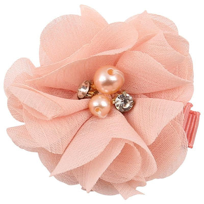 - 2.5 inch Pearl Diamond Headdress Flower Hair Accessories New Born Teens Girl Hairpin Children Fashion Elastic Hairclip Hairbow - 16  jetcube