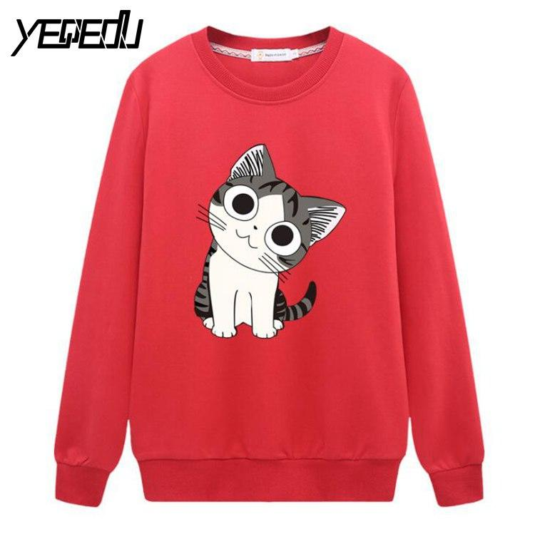 - #0818 2017 Anime sweatshirt women Moletom feminino Fashion Cotton Loose 4XL Pullover women Fashion Streetwear sweatshirt -   jetcube