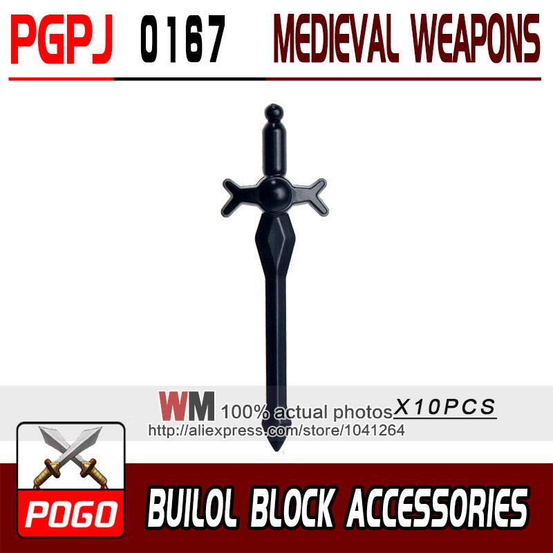 - 10pcs/lot Latest Rome Knight Weapon Sword Accessories Building Blocks Bricks Medieval Knight Weapons - PGPJ0167  jetcube