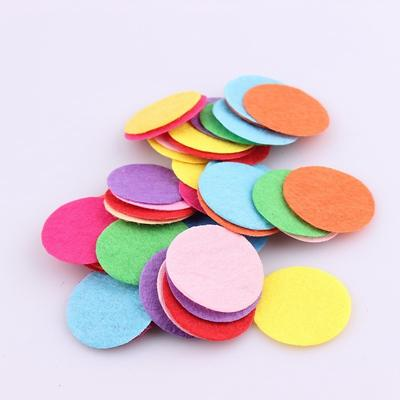 - 100 PCS DIY 20/25/30mm Mix Color Round Felt fabric Pads Accessory Patches Circle Felt Pads Fabric Flower Accessories - 30MM No hole  jetcube