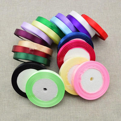- (25 yards/roll ) 12mm cheap Silk Satin Ribbon 22 Meters gift packing Christmas Wedding Party Festive Event Decoration Crafts -   jetcube