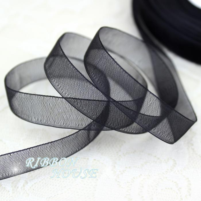- (50 yards/roll) 1/2''(12mm) organza ribbons wholesale gift wrapping decoration Christmas ribbons -   jetcube