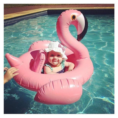 - 0-4 Years Old Flamingo Baby Seat Float Swimming Pool Party Swimming Ring Children Swimming Pool -   jetcube