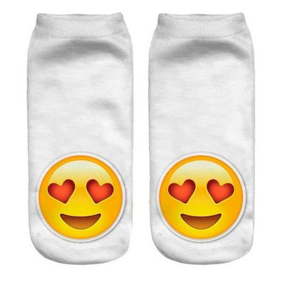 - % Feitong Top Quality Socks Female 3D Fashion Printing Women Sock Unisex Emoji Pattern Meias Cute Feminina Funny Low Ankle - 5  jetcube