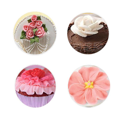 - #128 Large Rose Metal Ream Tips Pastry Tools Stainless Steel Icing Piping Nozzles Cupcake Cake Cream Decoration -   jetcube