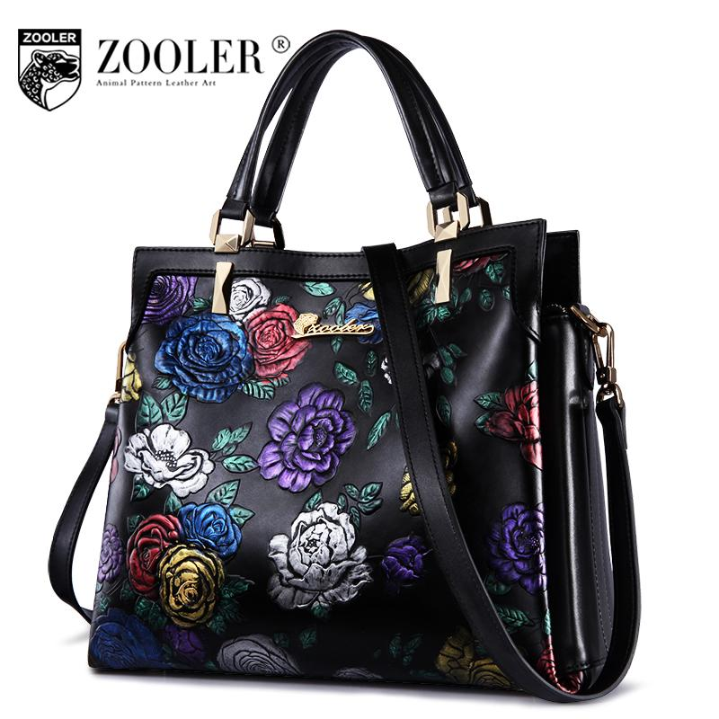 - 11-11 hot luxury genuine leather bag woman handbags brands stylish embossing woman shoulder bag ZOOLER embossed cowhide bag#2951 -   jetcube