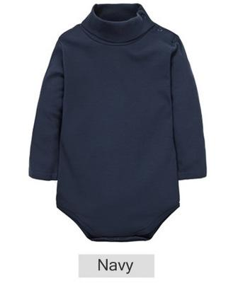 - 12 Color Baby Clothes 0-24M Newborn baby boy girl clothes Jumpsuit Long Sleeve Infant Product solid turtleneck Baby Rompers - navy / 12M  jetcube