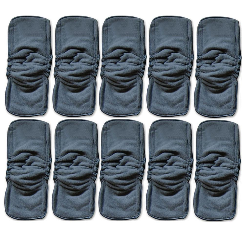 - ( 5 pcs/lot ) 2017 New Sales Upgrade Natural Bamboo Charcoal Inserts for Cloth Diapers With double Gussets -   jetcube