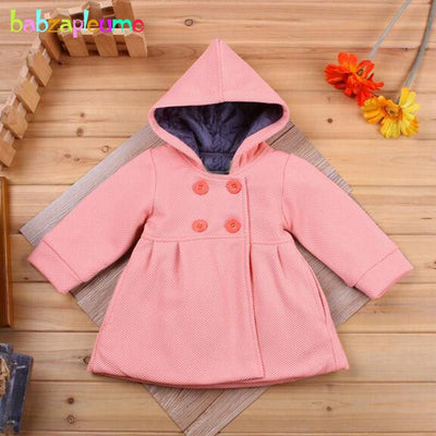 0-18Months/Autumn Winter Baby Girls Clothing Coats And Jackets For Newborn Clothes Warm Hooded Cute Pink Infant Outerwear BC1245  UpCube- upcube