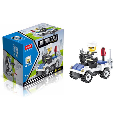 - 12 Kinds Original City Series Mini Transportation Block Car Building Blocks Compatible legoeINGlys Duplo Soliders Police Bricks - 1  jetcube