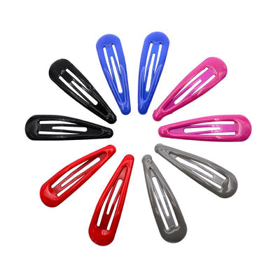 - 10 Pcs/lot Solid Candy Color Girls Hair Clips BB Clips Snap Band Hairpins Kids Hair Accessories - Solid Dark  jetcube