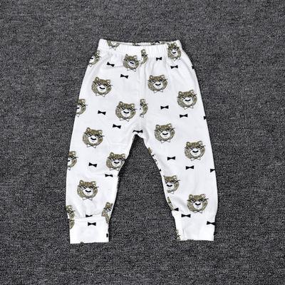 - 0-2T Spring Autumn Baby boy and girl pants Cotton Stripes & Grids &Geometry Printing girl leggings Baby boy trousers Harem pants - Gray / 12M  jetcube