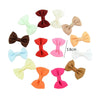- 10 Pcs/ Lot Kids Mini Bow Whole Wrapped Safety Hair Clips Cute Solid Dot Stripe Printing Hairpins For Girls 731 - 3  jetcube