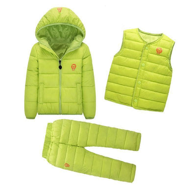 - 2-7 Years Baby Boys Girls Coats Brand 2017 Winter Boys Down Jackets Casual Snow Wear Girls Clothing Sets 3Pcs Outerwear & Coats - 6 / 24M  jetcube