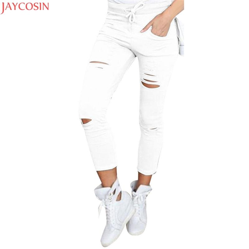 8311df47c0 00White Jeans Feminino Plus Size Candy Pantalon Femme Black Skinny Jeans  Woman Long Pants Large