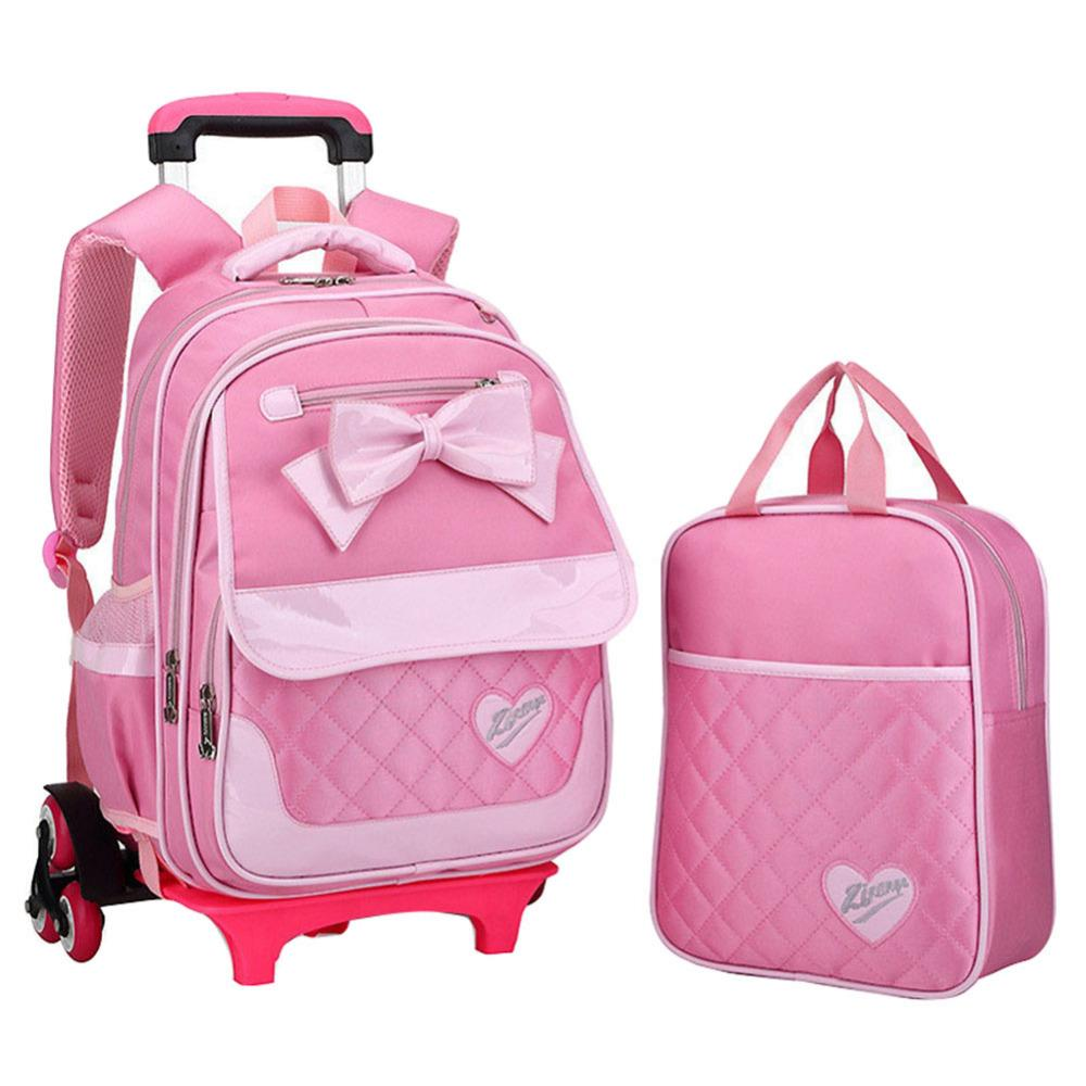 b31cf3129e5 ... wheeled bag School backpack. 2017 children cute cartoon cute Bow tie school  bags for girls Fashion travel trolley bag backpacks