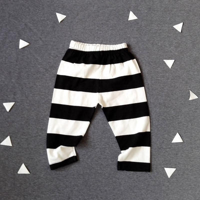 - 0-2T Spring Autumn Baby boy and girl pants Cotton Stripes & Grids &Geometry Printing girl leggings Baby boy trousers Harem pants - Ivory / 12M  jetcube