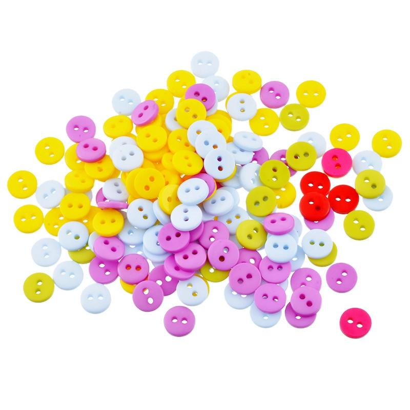 Hoomall 600PCs Mixed Acrylic Buttons 2 Holes Scrapbooking 9mm Sewing Buttons  For Shirt Clothes Sewing Accessories 3b58f9b65688