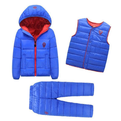 - 2-7 Years Baby Boys Girls Coats Brand 2017 Winter Boys Down Jackets Casual Snow Wear Girls Clothing Sets 3Pcs Outerwear & Coats - 1 / 24M  jetcube