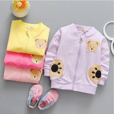 - 0-2 year old male and female baby fashion new cotton long-sleeved jacket + free gift -   jetcube