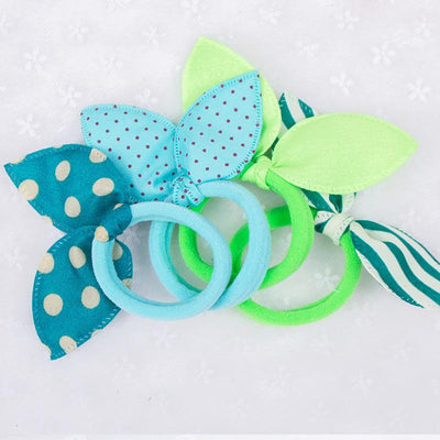 - 10 PCS Girls Headwear Mix Styles Bow Dot Elastic Hair Bands Rabbit Ears Hair Accessories Ponytail Holder Rubber Bands Ropes -   jetcube