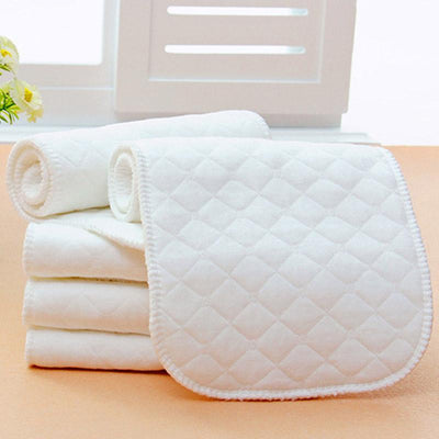 - 10 Pcs Baby Nappy Reusable Infant Newborn Diaper Liners Insert 3 Layers Cotton Washable Nappy Cloth -   jetcube