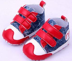 - 0-2 year old baby boy first walk shoes red and blue 11-13 cm boy children shoes bebe menino 0389 - red / 0-6 Months  jetcube