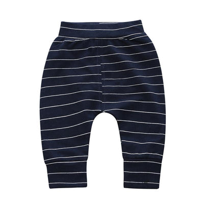 - 0-2 T PP Baby pants Boy trousers Striped printed children trousers harem pants Can open the children's pants Autumn/Spring - Boy Shorts 1 / 12M  jetcube