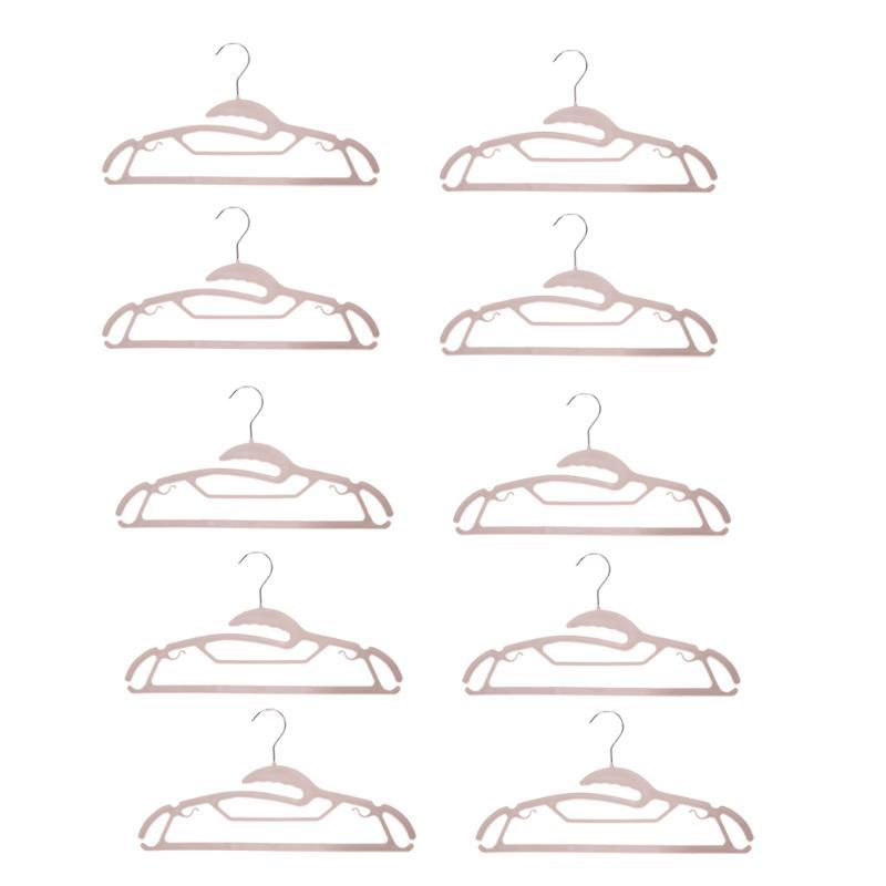 - 10pcs Stainless Steel Plastic Hanger for Clothes Towel Antiskid Drying Clothes Rack Adult Children Hanger -   jetcube