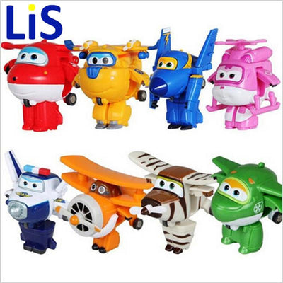 - (Lis)8 styles Super Wings Mini Planes Deformation Airplane Robot Action Changeable Toys action toy Super Wings -   jetcube