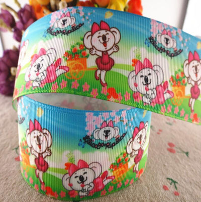 "- 18020801,New arrival 1"" (25mm) and 1.5"" 38mm 10 yards animals printed grosgrain ribbons cartoon ribbon DIY handmade materials - 01 / 25MM  jetcube"