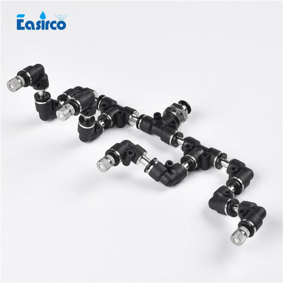 - (1set/pack) 6mm(OD) connector Reptile Fogger Mister with 4pcs quick connecting nozzle . Terrarium Humidity. Free Shipping -   jetcube