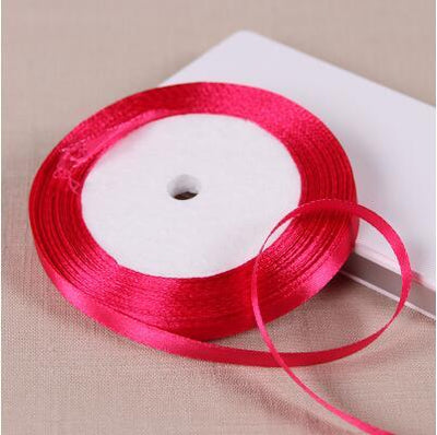 0.6cm 22 Meters Lone Single Face Satin Ribbon Wholesale gift packing Wedding Crafts Christmas White Pink Red Black Ribbons  UpCube- upcube