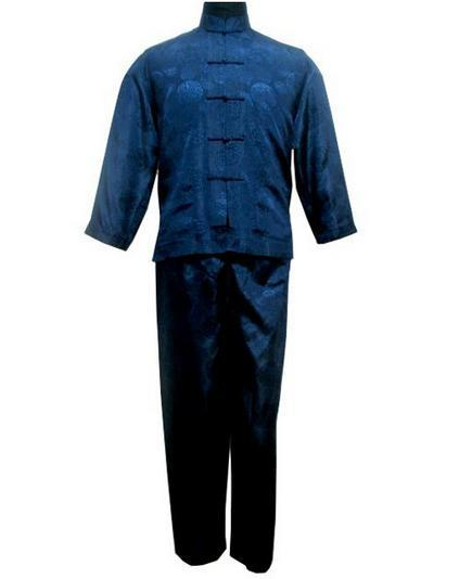 Plus Size XXXL Chinese Style Men's Satin Pajamas Set Vintage Button Pyjamas Suit Shirt&Pant Sleepwear Long Sleeve Nightwear