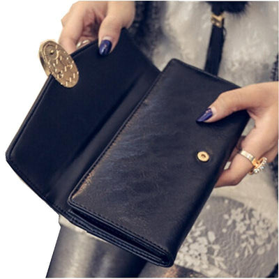 - 2016 High Quality Women Wallets Leather Long Ladies Luxury Purse Women's Designer Wallet Famous Brand Hasp Female Clutch -   jetcube