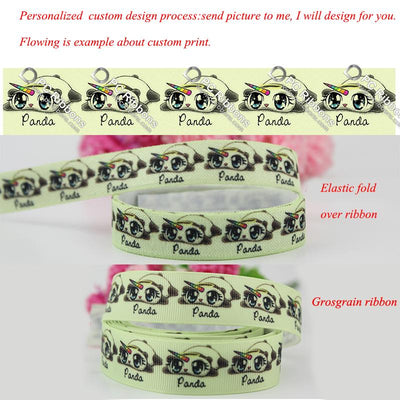 - 10 sizes width heat transfer printed grosgrain ribbon custom design pattern wedding accessories 100 yards -   jetcube