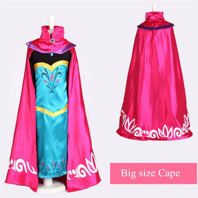 - 2-15T New Elsa Cape for Girl Dress Queen Coronation Children Cloak Cartoon Movie Cosplay Costume Baby Kids 2015 Brand Halloween -   jetcube