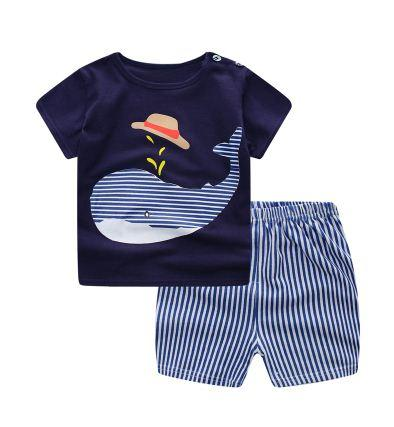 Baby Boy Clothes Summer Newborn Baby Boys Clothes Set Cotton Baby Clothing  Suit (Shirt+ 48333febb