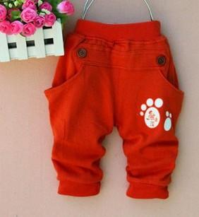 - (1piece /lot) 100% cotton 2015 new lucky trousers for children - Red / 12M  jetcube