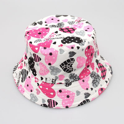 - 2-6T Baby Cartoon Print Bucket Sun Hat Floral Children Summer Panama Caps Baby Girls Fisherman Straw Hat Kids Boys Topee cap - 8  jetcube