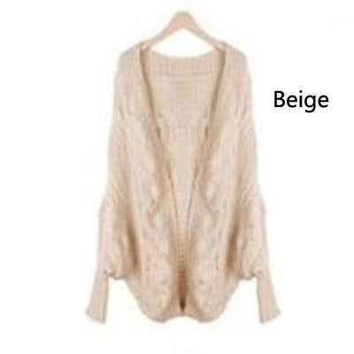 2017 Autumn winter fashion new style sweater women bat sleeve loose stripe knitted cardigan sweater poncho women thick coat