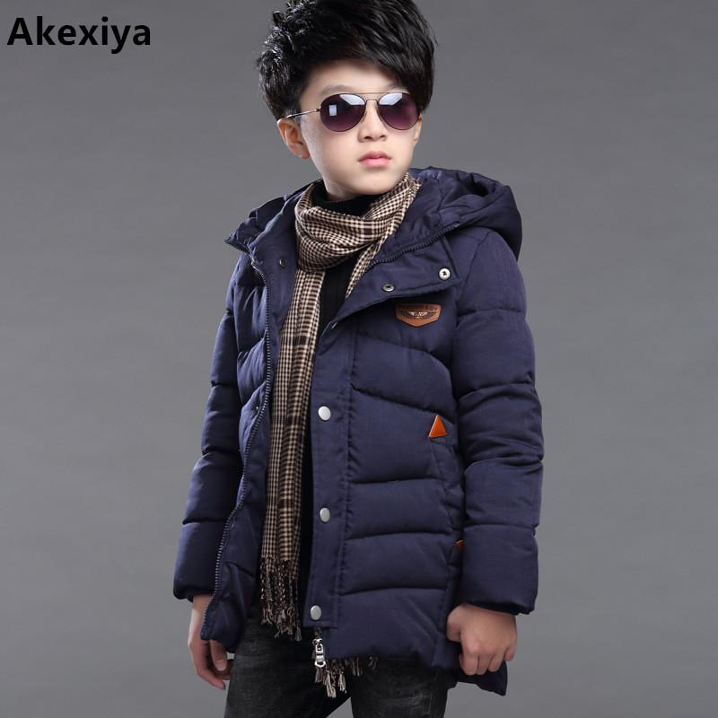 Akexiya children boy's long for kids youth cuhk more down cotton jacket boy winter childrens fur coat boys parka kids clothes  UpCube- upcube