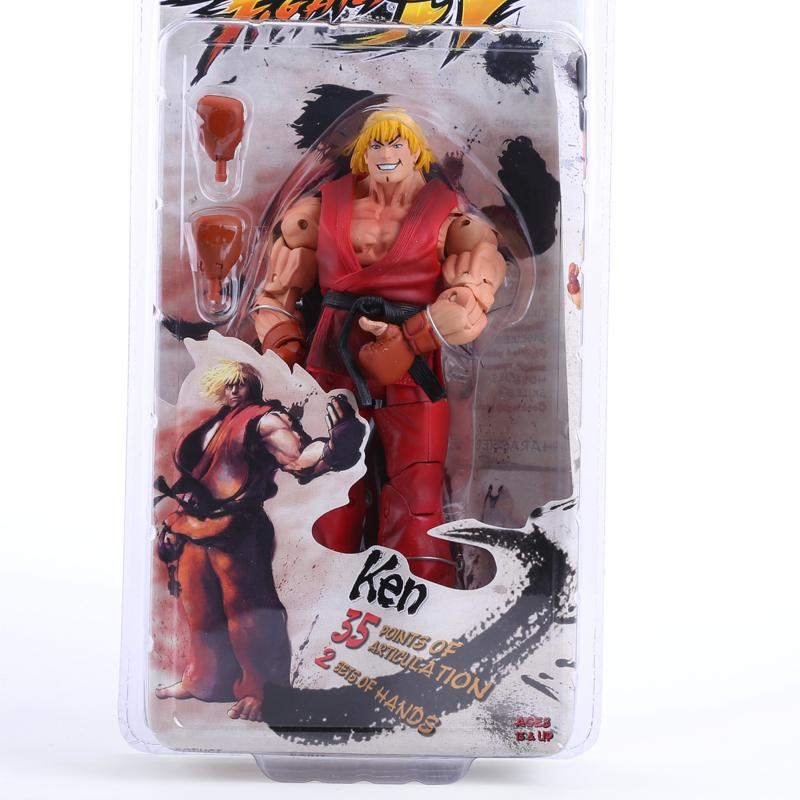 """Game Street Fighter Ken Ryu Guile 7/"""" Action Figure Player Select Survival NECA"""