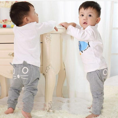 - 0-4Y Cute Cartoon Pattern Baby Pants Boys Girls Harem Pants Kids Long Pants Cotton Soft Owl Trousers Spring and Autumn Hot Sale -   jetcube