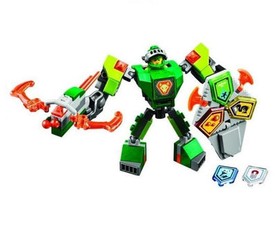 - (YNYNOO)10585 10586 10587 10588 10589 Nexus Knights Building Blocks set Macy Aaron AXL Lance Clay Battle Suit Kids bricks toys - Green  jetcube
